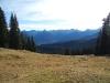 Erster Blick auf die Obersdorfer Berge
