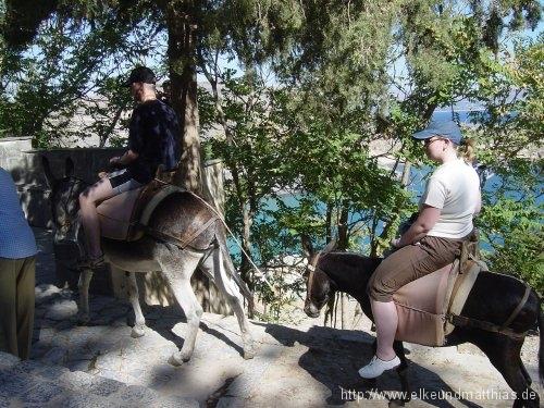 Eselreiten in Lindos